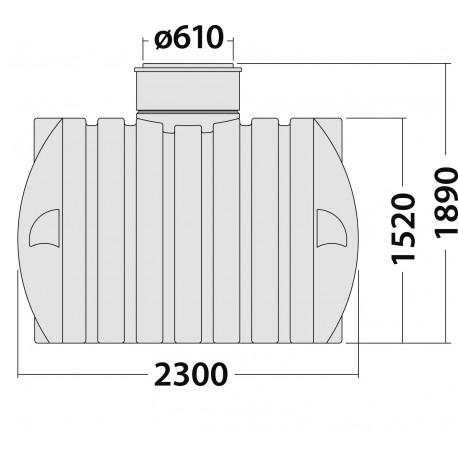 Plastová jímka Smart 4000 l